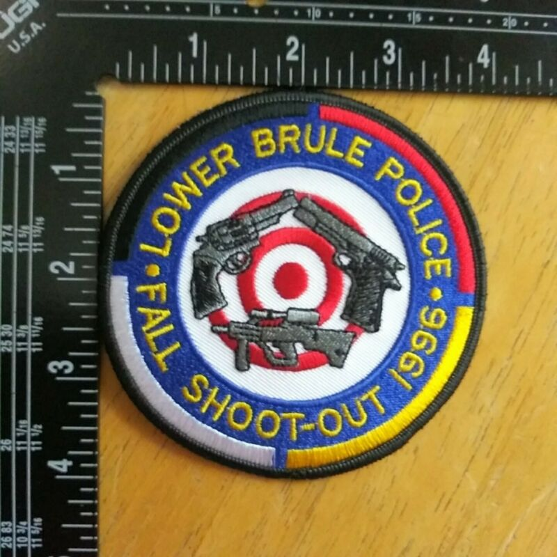 US Lower Brule Police Fall Shoot Out 1996 Patch South Dakota