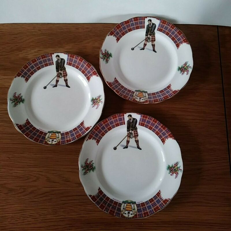 Royal Standard Bonnie Scotland Clan Cameron Plates Set of 3