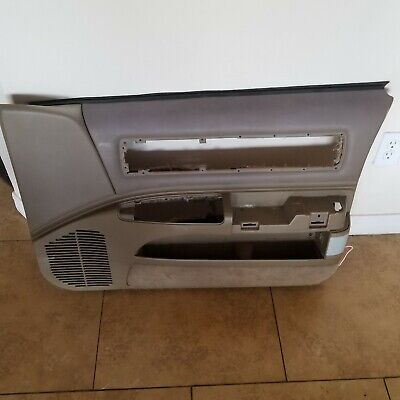 1991-1996 Chevy Caprice Impala  Passenger Door Panel Tan Vinyl  Clear Vinyl Panels