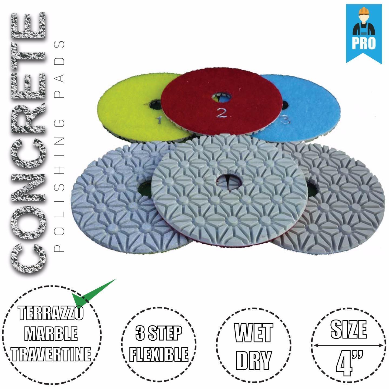 "1Pc Stadea 5/"" Diamond Polishing Pad Wet for Concrete Terrazzo Stone Polishing"
