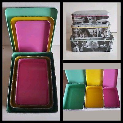 3 Tins in 1 Storage tins/Baking/Gift Tins/make-up storage tins/nan/mum/gran/aunt
