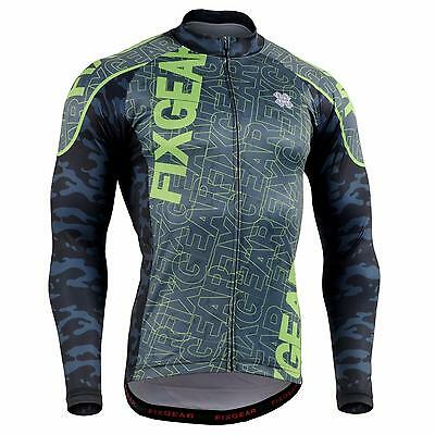 FIXGEAR CS-H1 Men's Long Sleeve Cycling Jersey Bicycle Apparel Roadbike MTB