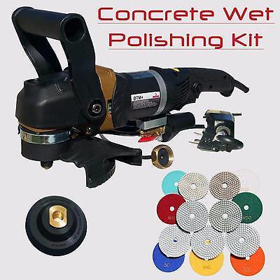 Stadea Concrete Wet Polisher Grinder Variable Speed 5 Concrete Polishing Pads
