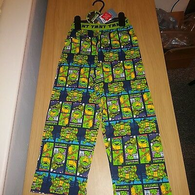Boys Blue Green Ninja Turtle Comfy Lounge Pants Trousers PJ Bottoms 4-5 years.