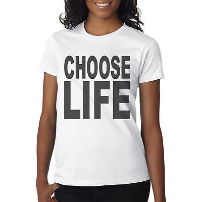 Choose Life - Herren & Damen T-Shirt 80er Jahre Retro Kostüm Idee George Michael