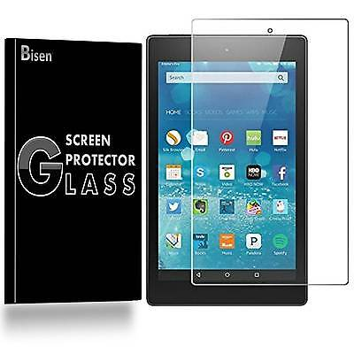 Amazon Fire HD 8 [BISEN] Tempered Glass Screen Protector Guard Shield Saver
