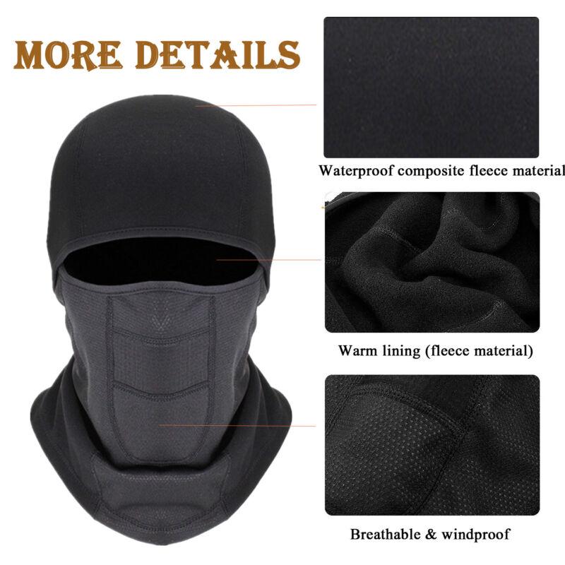 Men Women Windproof Fleece Neck Warm Balaclava Ski Full Face Mask Winter Cap US