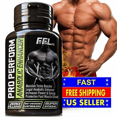 BODYBUILDING SUPPLEMENT RIPPED LEAN MUSCLE GROWTH GAIN WORKOUT PILLS 60 CAPS