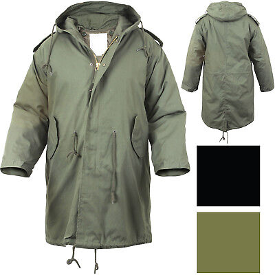 Military M-51 Fishtail Parka Hooded Army Field Winter Jacket Long Tail Trench - Long Tail Jacket