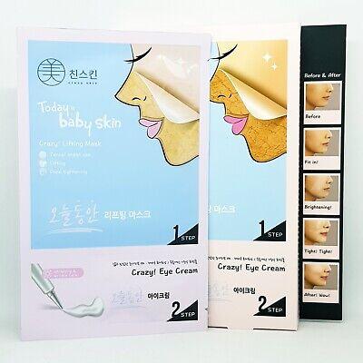 Crazy Skin Onul Dong An Lifting Mask 5pcs 2 Step Eye Cream Anti Wrinkle K-Beauty