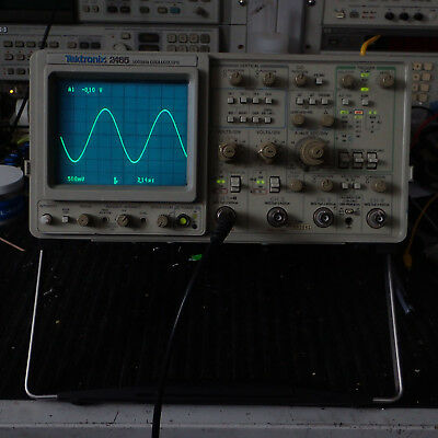 Tektronix 2465 Oscilloscope 300 Mhz 4 Channel Portable Sweep Trigger Works