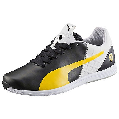 Men's PUMA FERRARI EVOSPEED 1.4 Casual Shoes, 305555 01 Sizes 8-11 black-vibran
