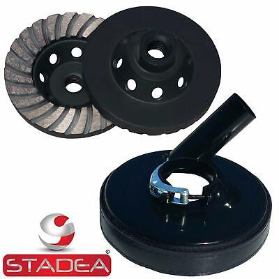 Stadea Grinder Dust Shroud With 4 Concrete Grinding Cup Wheel - 58 11 Thread