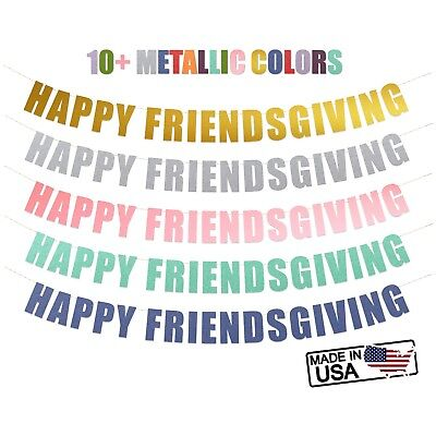 Happy Friendsgiving banner - Happy Thanksgiving Holiday Party Banner sign - Happy Thanksgiving Banners