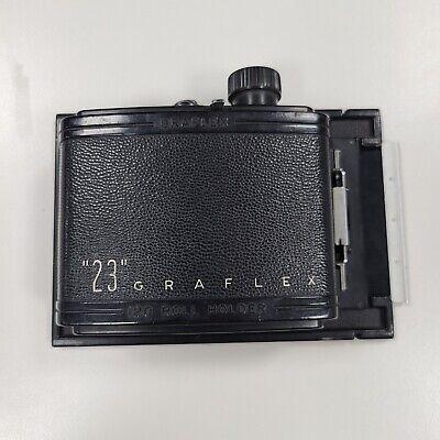 """23 Graflex"" 3 1/4 x 4 1/4 Roll Film Back for 120 film ""Rare"""