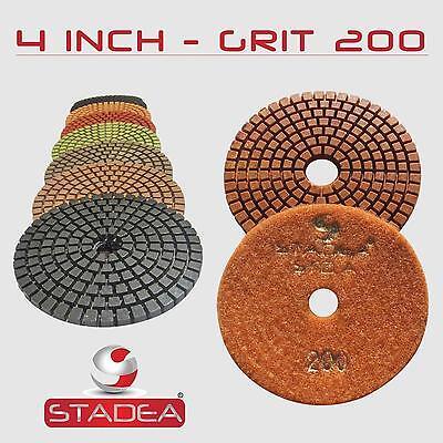 Stadea 4 Diamond Polishing Pad Grit 200 For Granite Concrete Wet Grinder Floor