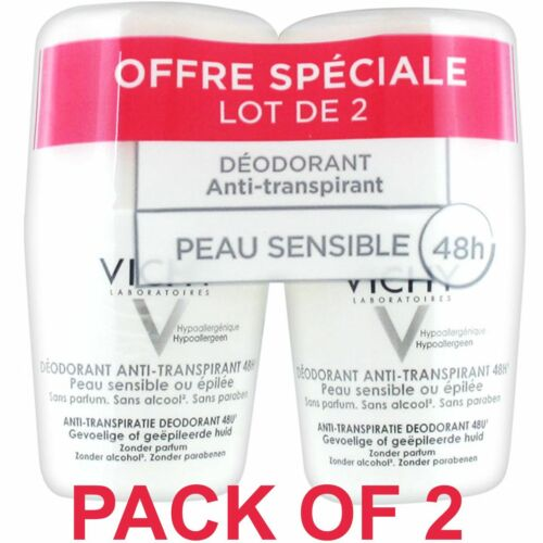 Vichy 48H Anti-Perspirant Deodorant Sensitive Skin Roll-on 2 x 50ml