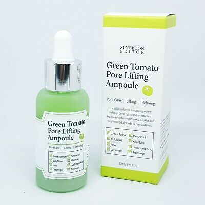 SUNGBOON EDITOR Green Tomato Pore Lifting Ampoule 30ml Anti Wrinkle K-Beauty