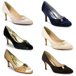 Ladies-Stiletto-Heel-Bridal-Evening-Diamante-Court-Sandals-Womens-Shoes-UK-3-8