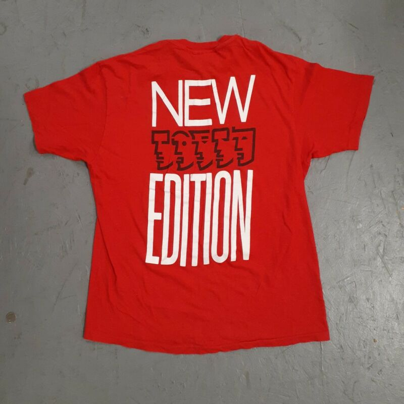 Vintage 1988 New Edition Tee Shirt L 80s Single Stitch Tour Concert Bobby Brown