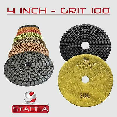 Stadea 4 Diamond Polishing Pad Grit 100 For Granite Concrete Wet Grinder Floor