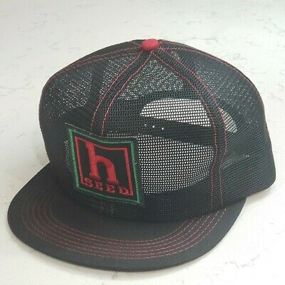 Vintage H SEED Snapback Trucker Hat Full Mesh Patch Cap K Products USA