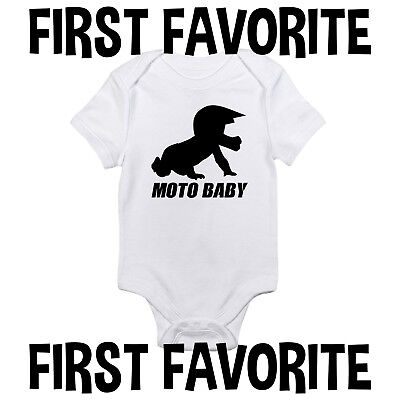 - Moto Baby Onesie Shirt Motocross MX Dirt Bike Shower Gift Newborn Clothes Gerber