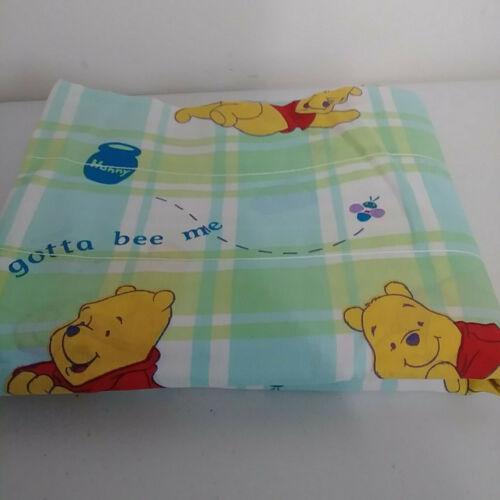 "Window Valance Disney Winnie the Pooh 84"" x 17"" Gotta Bee Me Blue Green Vintage"