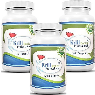 Antarctic Red Krill Oil 180 Softgels 1200Mg Serving Omega 3 Fatty Acids Epa Dha