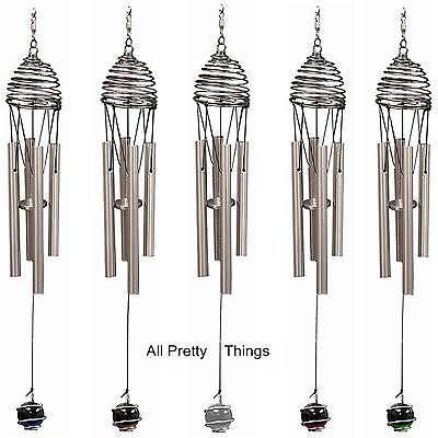 ANY TWO Iron Stop WIND CHIMES with COLOURED BALL (5 x Colours) for Wind Spinners
