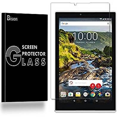 Verizon Ellipsis 8 HD (2016) [2-PACK BISEN] Tempered Glass Screen Protector