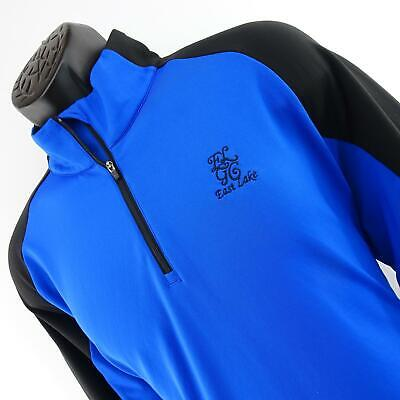 Mens Puma Golf Drycell Warmcell 1/4 Zip Pullover Jacket Shirt Size Large Blue