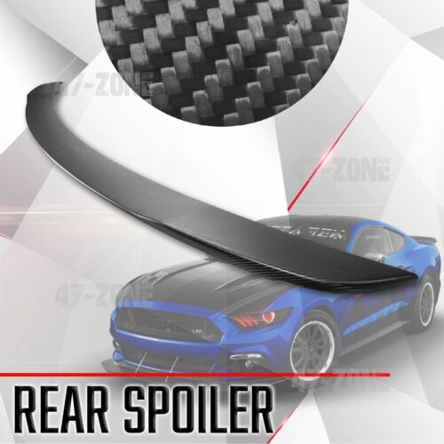 Car Parts - For 2015-2017 Mustang Real Dry Carbon Fiber Spoiler Rear Trunk