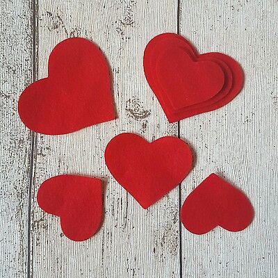 Felt Hearts, die cut felt, die cut hearts, red hearts, diy wedding, wedding