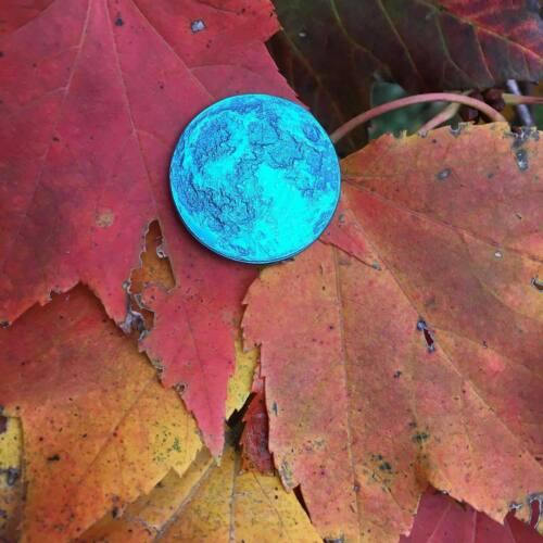 "MOON COINS ""BLUE MOON COIN"" Anodized Blue Niobium Shire Post Mint New"