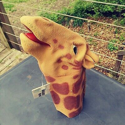 Giraffe Hand Critters Latex Hand Puppet by Mask Illusions Vintage NWT 1993 - Latex Giraffe Mask