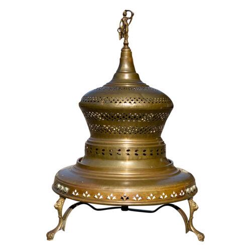 Vintage Middle Eastern Turkish Copper Incense Burner Brazier Warmer