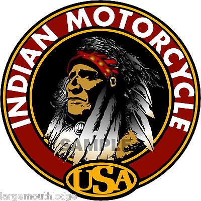 "INDIAN MOTORCYCLE 2"" ROUND DECAL"
