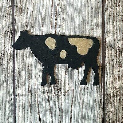 Felt Cows, die cut felt, felt embellishments, felt supplies, die cut cows, farm