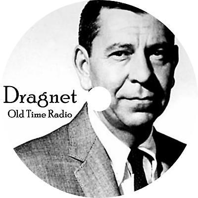 Dragnet Old Time Radio Show OTR 392 Episodes on 1 MP3 DVD Free Shipping