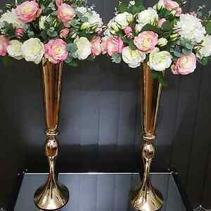 75cm gold vases Bossley Park Fairfield Area Preview