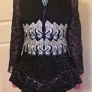 Beautiful black and silver Irish dance dress