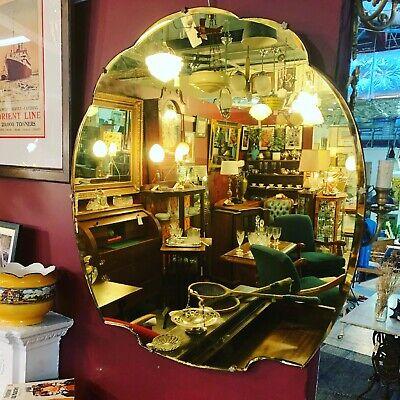 Art Deco 1930's Gold Cloud Mirror
