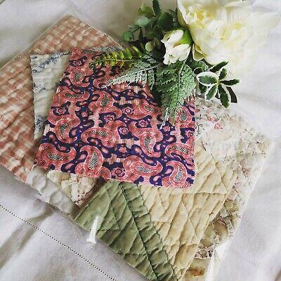 Vintage Fabric Antique Quilt Durham Slow Stitch Patchwork Craft Pack 2