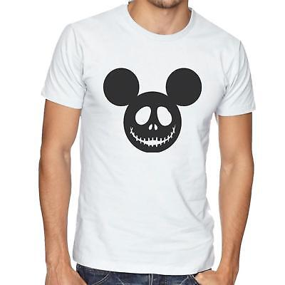 Mickey Mouse Costume T-shirt (Mickey Mouse Skeleton Face T-Shirt -  Mens/Womens - Halloween Tshirt -)