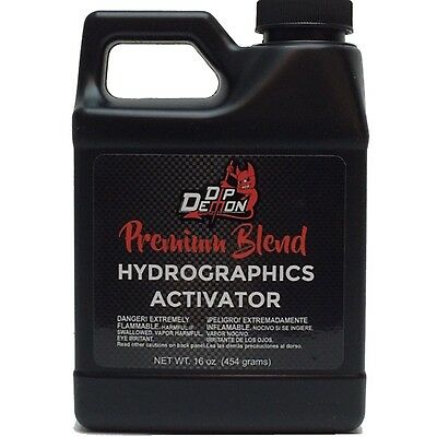 Hydrographic Activator Dip Demon Premium Blend Hydro Water Transfer 16oz Pint
