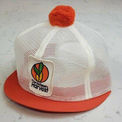 Vintage GOLDEN HARVEST Snapback POM Hat Full Mesh Cap K Brand USA