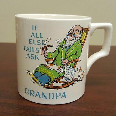 If All Else Fails Ask Grandpa Sleep In Rocking Chair Coffee Mug Dog