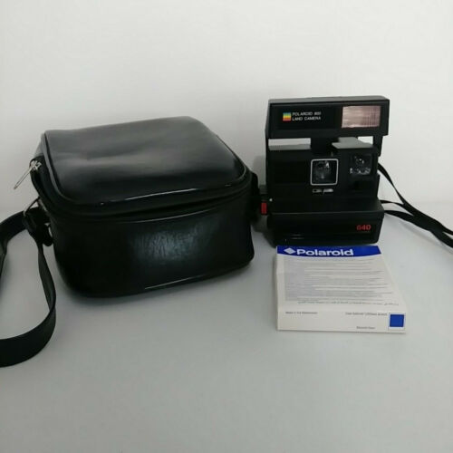 Polaroid 600 Land Camera Sun 640 Camera Plus Instant 600 Film and Case Vintage