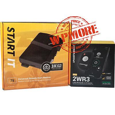 Compustar RFX 2WR3 FM 2Way LED RF Remote DR X1 DRONE 4G LTE + FT-7200S     2WG15